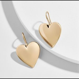 BaubleBar Viviane Gold Heart-Drop Earrings